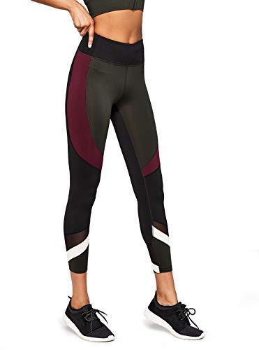 Vert peat Legging Taille Bicolore Haute Aurique De Femme Sport 0qwddpx8