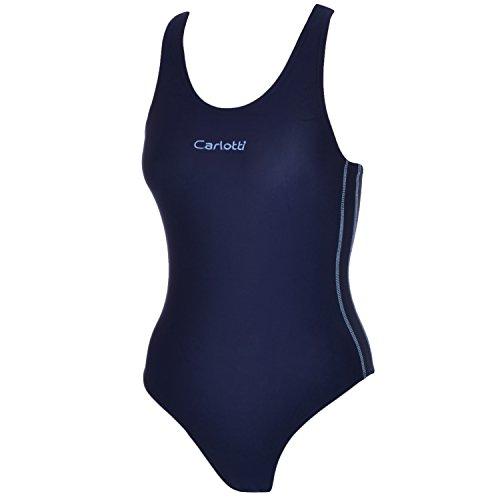 Carlotti Womens Swim Costume - Navy - (Swimming Costume For Ladies)