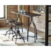 Bronze Pub Table - Signature Design by Ashley D284-113 Odium Dining Table, 3pc