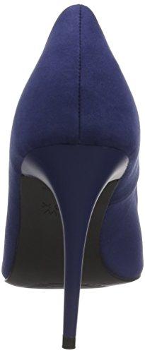 New Look Women's Suedette Stiletto Heel Pointed Courts Blue (Navy 41) 3H4Ot