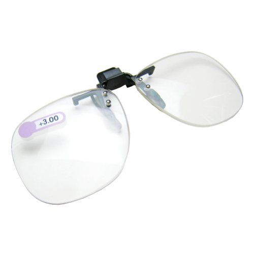 Daiso Japan Optical Clip-on Flip-up Magnifying Reading Glass