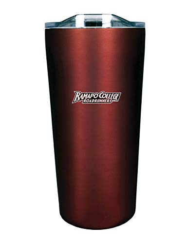 The Fanatic Group Ramapo College of New Jersey Double Walled Soft Touch Tumbler, Design-1 - Burgundy
