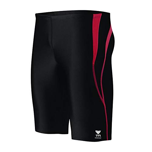 - TYR Sport Men's Alliance Durafast Splice Jammer,Black/Red,34