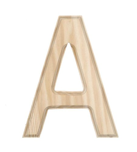 amazoncom darice 0992 a decorative wood letter a 6 inch arts crafts sewing