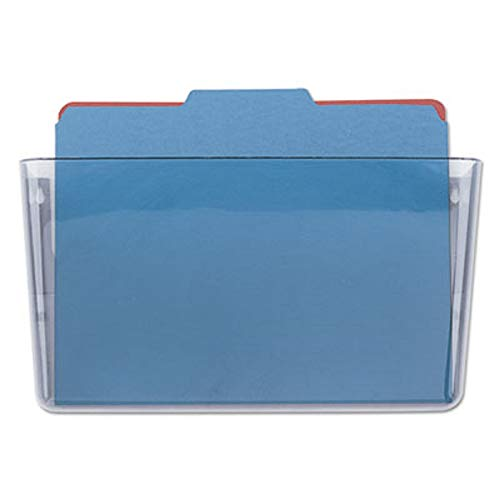 1InTheOffice Single Pocket Clear Wall File, Letter Size Expandable