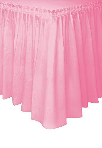 Light Pink Plastic Table Skirt, 29
