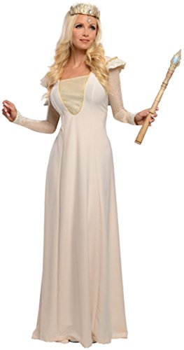 Deluxe Glinda Adult Costumes (Rubie's Costume Disney's Oz The Great and Powerful Adult Deluxe Glinda Dress and Headpiece, Multi, Large)