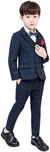 子供スーツ 男の子 チェック柄フォーマルジャケットベストズボン3点セット 綿洋服 キッズフォーマルスーツ?ジュニアボーイズ通学春夏キッズ 演奏会入学式卒業式発表会