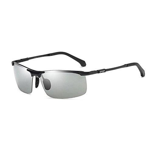 fad9885b8e Caliente de la venta WYYY Gafas De Sol Gafas Gafas De Conducción Hombres  Inteligente Decoloración Medio Marco Día Y Noche Aire Libre Clásico Luz  Polarizada ...