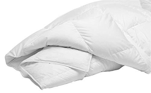 (DOWN UNDER Certified Filled in Canada 500TC Hutterite Empress White Down Duvet Comforter Blanket Queen Size 30 oz with Corner Ties)