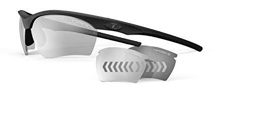 (Tifosi Optics Vero Z87.1 Tactical Fototec Lens Safety Sunglasses (Matte Black/Light Night Fototec))