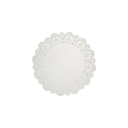 120 PCS Disposable White Round Lace Paper Doilies Cake Packaging Pads Tableware Wedding Decoration 8.5 Inch