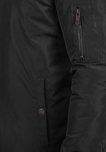 Con Solid Para Cuello Park Entretiempo Hombre Black Alto De Chaqueta 9000 Cazadora Bomber wawqx6rU8