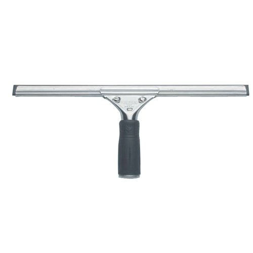 Unger PR45 Pro Stainless Steel Window Squeegee, 18 inch Wide Blade, Black Rubber