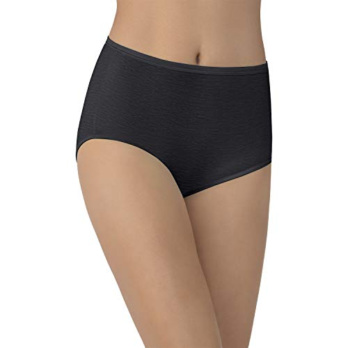 Vanity Fair Women's My Favorite Pants Illumination Brief #13109, Midnight Black, Size (Illumination Full Brief Panties)
