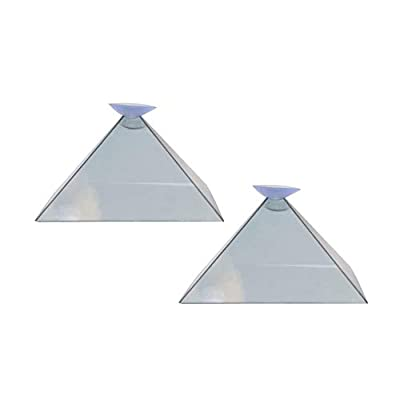 YWILLINK 3D Hologram Pyramid Display Projector Video Stand Portable for Smart Mobile Phone: Home & Kitchen