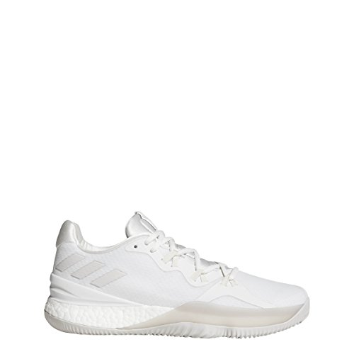 Adidas Crazy Light Boost 2018 Scarpa Da Uomo Da Basket Crystal White-chalk Pearl-white
