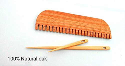 10 inch weaving comb with 2 needles