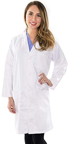 Utopia Wear Professional Lab Coat Women - Laboratory Coat (White, Small)