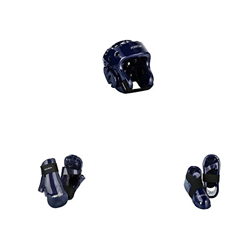 BlackBeltShop Century Karate Sparring Gear Combo Set Blue Child Medium