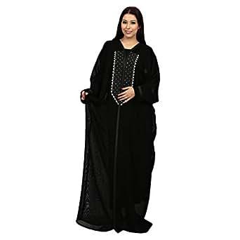 Farah Black Casual Abaya For Women