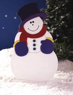 42 Inch Tall Snowman - A Woodworking Full Size Pattern and Instructions Pkg to Build Your Own Yard Art Project