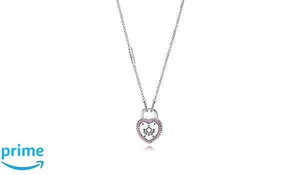 7473b3957f2 Amazon.com: Pandora Lock Your Promise Necklace 396583FPC60: Jewelry