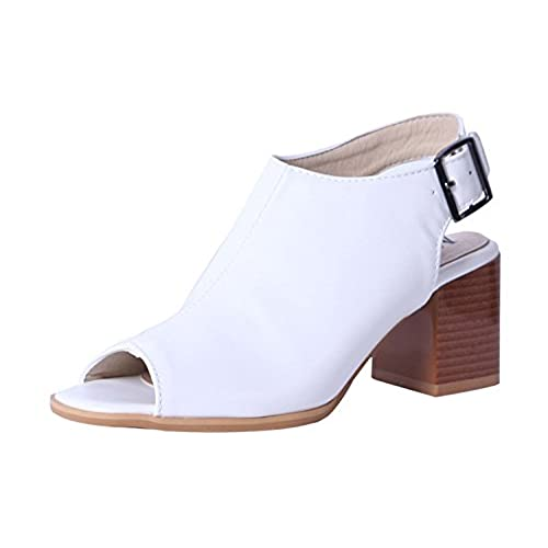 a3d675c9dc820 Woman Fashion High Heels Sandals Ladies Peep Toe Slingbacks Buckle ...