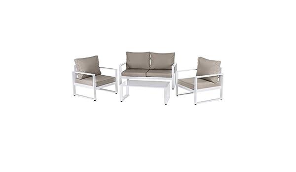 Conjunto de Muebles de jardín marrón de Aluminio - LOLAhome: Amazon.es: Jardín