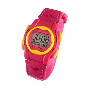 Amazon.com: WobL - Pink Vibrating Reminder Watch 8 Alarms ...