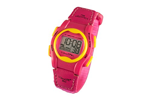 VibraLITE Mini 12-Alarm Vibrating Watch - Pink