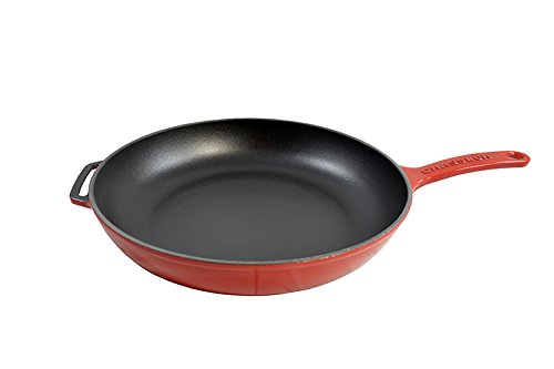 Chasseur Red Enamel Cast Iron Fry Pan, 11-Inch (Fry World Iron Cuisine Pan Cast)