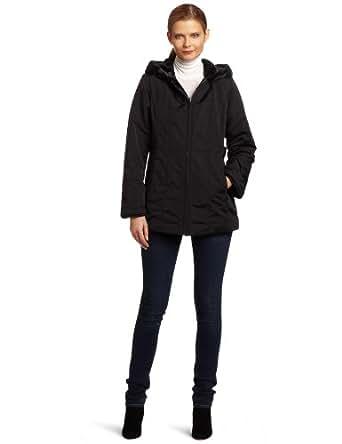 Jones New York Women's Bonder Reversible To Faux Beaver Coat, Black, Medium
