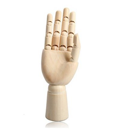 12Inch Male Wooden Articulated Right Hand Manikin Model Gift Art Accessories for Men
