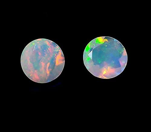 Natural Ethiopian Opal Gemstone 2.35 Ct AAA Quality Ethiopian Opal Smooth Cabochon Perfect Ring Size Loose Gemstone Fire Opal 10x8x6MM