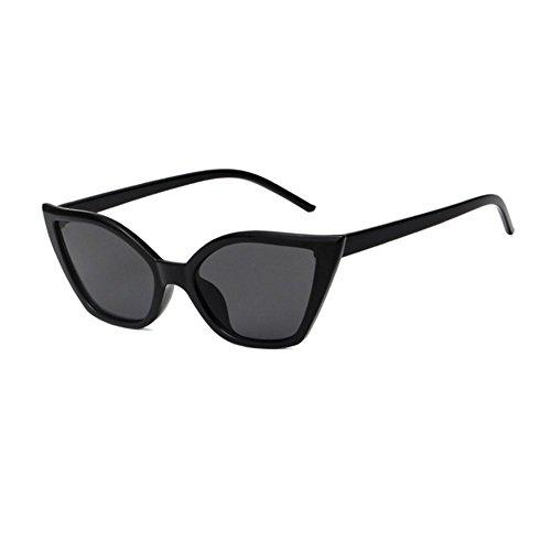 yo Vi UV400 vintage Negro protección Cat size Diseñador Sunglasses Shades Womens Eye Amarillo 177MM de Znrnd
