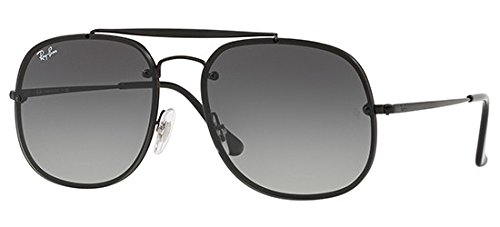 Ray-Ban Steel Unisex Square Sunglasses, Demigloss Black, 58 - General Ban The Ray