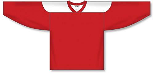 (Customization Depot Red, White League Plain Blank Hockey Jerseys)