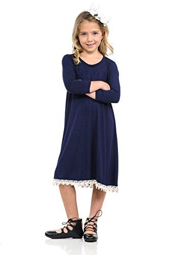 8561f5380 Pastel by Vivienne Honey Vanilla Girls  Swing Dress with Crochet ...