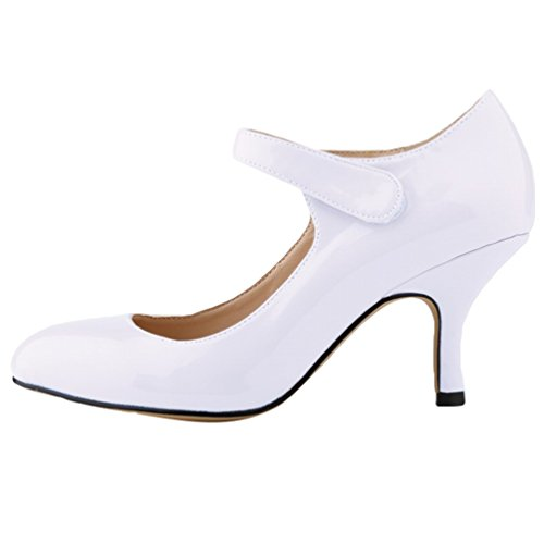 Tacco Scarpe Kitten WanYang Scarpe Punta Donna Elegante a col Bianca Calzature Shoes Heel wXnqvE1n
