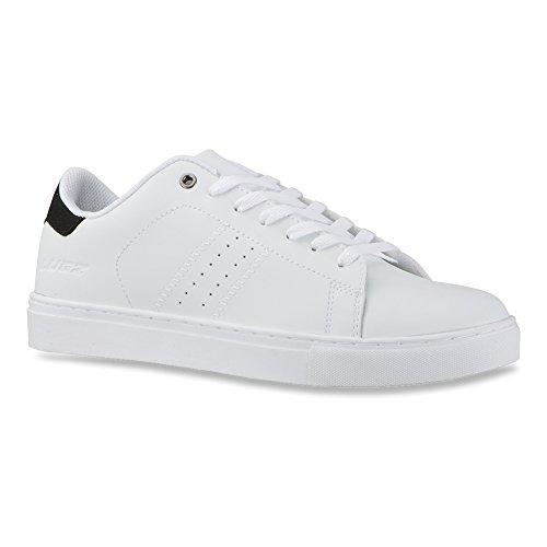 Lugz Heren Crosscourt Fashion Sneaker Wit / Zwart Leer
