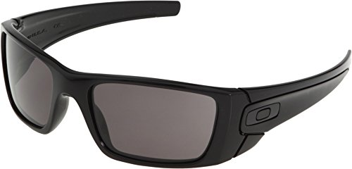 Oakley Fuel Cell Rectangular Sunglasses,Polished Black Frame/Warm Grey Lens,one - Z87 Oakley