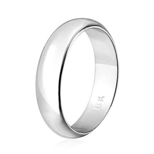 U7 Men Women Couple Wedding Ring 5MM Wide Platinum Plated...