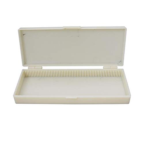 Polypropylene 60 Place Economy Microscope Slide Box, Biological Experiment Instrument Box