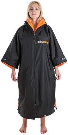 Dryrobe Advance Short Sleeve Premium Outdoor Change Changing Robe – Black Orange – Long Sleeve Waterproof Sprayproof