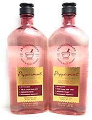 Bath and Body Works 2 Pack Aromatherapy Peppermint Essential Oil Body Wash 10 Oz.