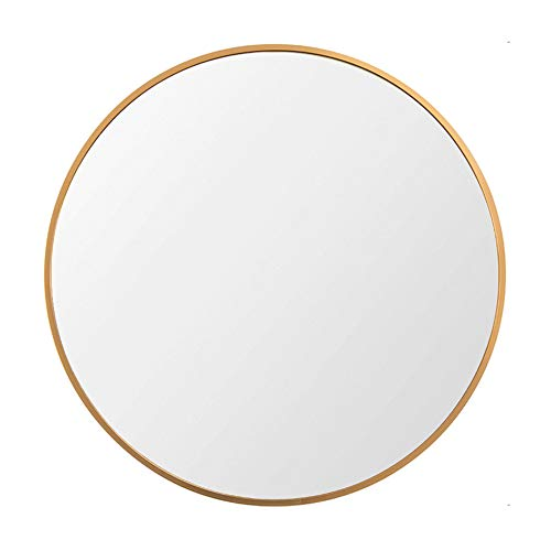 "Beauty4U Large Round Metal Frame Mirror, 19.7"" Wall-Mounted Mirror for Bedroom, Bathroom, Living Room, Entryway, Vanity Mirror, Gold"