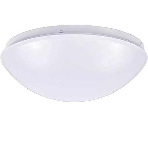 - Hykolity 14 inch Dimmable LED Flush Mount Ceiling Light Fixture 25W (160W Equivalent), 1800 lumens, 4000K Neutral White, 120v White Finish Mushroom Shape for Kitchens, Stairwells, Closet, Washroom