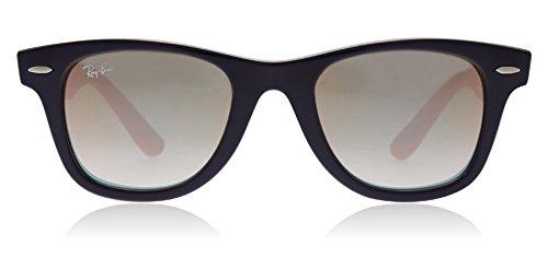 Ray-Ban Junior Kids' 0rj9066s7021b947junior Wayfarer Non-Polarized Iridium Square Sunglasses, Violet, 47 - Ban Polarized Ray Wayfarer 47mm