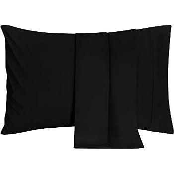 Amazon Com Pillowcases Set Of 2 Black Envelope Closure